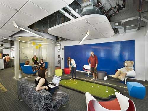 Xu hướng thiết kế văn phòng hiện đại kết hợp khu vui chơi giải trí