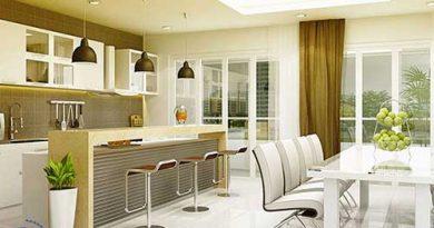 Cách bố trí phòng bếp nhỏ, bố trí phòng bếp nhà ống đẹp, tiện nghi