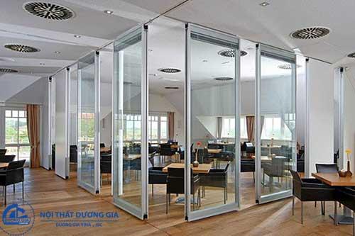 Mẫu vách ngăn di động văn phòng giá rẻ, bền đẹp VDD-DG10