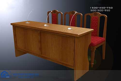 Mẫu bàn ghế hội trường gỗ tự nhiên BGHT-GTN02