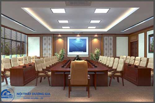 Nội thất Dương Gia thiết kế lắp đặt phòng họp trực tuyến chuyên nghiệp