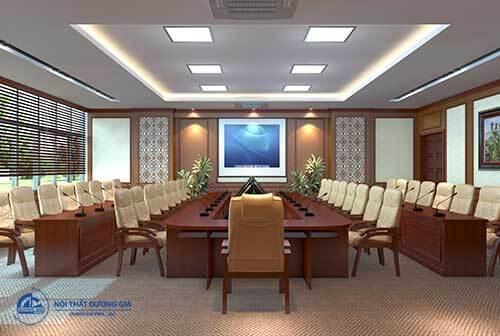 Muốn sở hữu không gian nội thất phòng họp đẹp cần chú ý âm thanh, ánh sáng