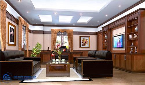 Trang trí nội thất phòng tổng Giám đốc thể hiện tầm vóc, sự đẳng cấp của đơn vị