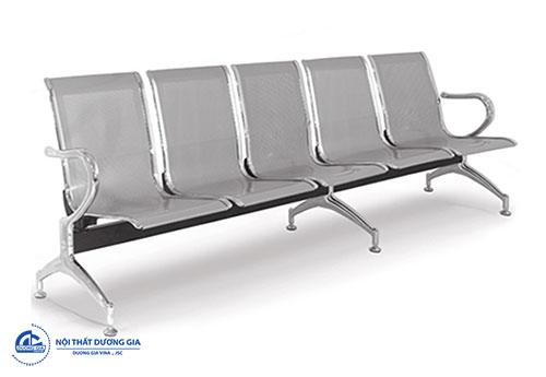 Mẫu ghế băng chờ inox 5 chỗ GC01M-5