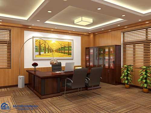 Thiết kế nội thất phòng Giám đốc đẹp với những đồ trang trí ấn tượng