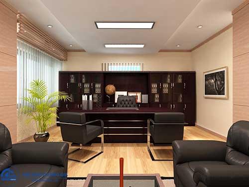 Thiết kế nội thất phòng Giám đốc hiện đại theo hướng mở