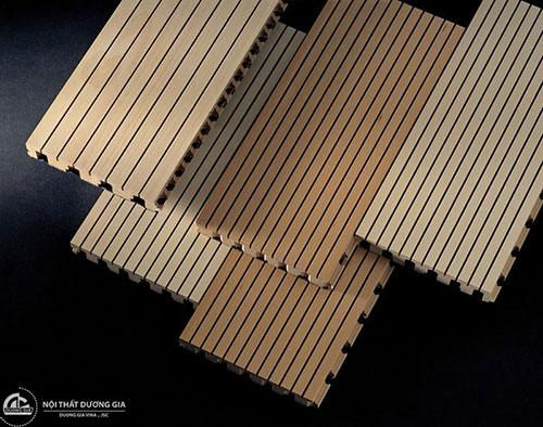 Vách gỗ tiêu âm soi rãnh