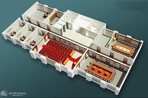 Đơn vị thiết kế văn phòng làm việc 200m2 chuyên nghiệp tại Hà Nội