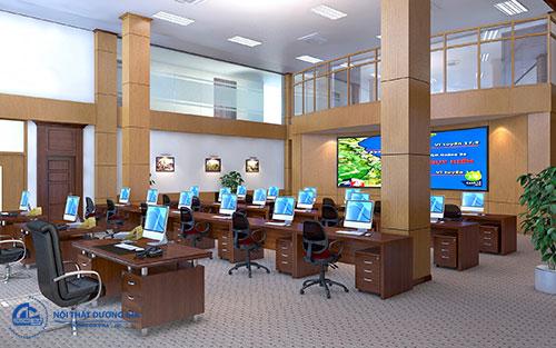 Thiết kế phòng làm việc 200m2 thể hiện đẳng cấp của doanh nghiệp