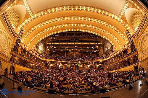 Thiết kế nhà hát chú ý tới quy mô, diện tích mặt bằng