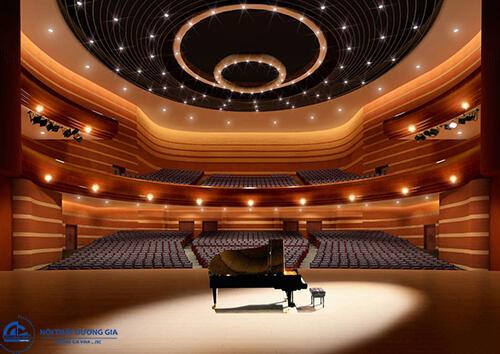 Thiết kế đồ án nội thất nhà hát phù hợp với tính chất sử dụng