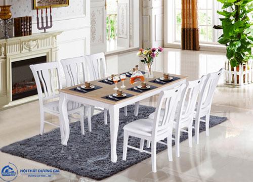 Chiều cao bàn ăn tiêu chuẩn là bao nhiêu? bàn HGB61B, ghế HGG61