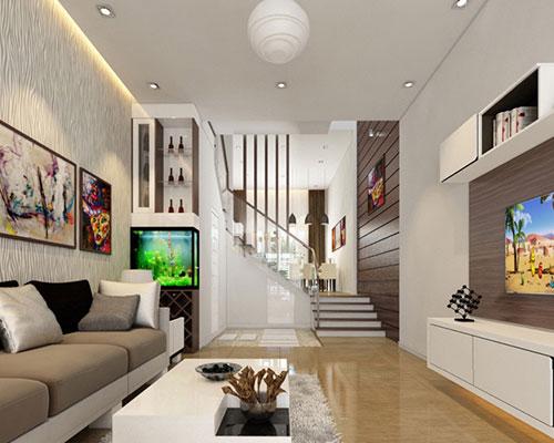 Những chất liệu được dùng phổ biến trong nội thất nhà phố hiện đại