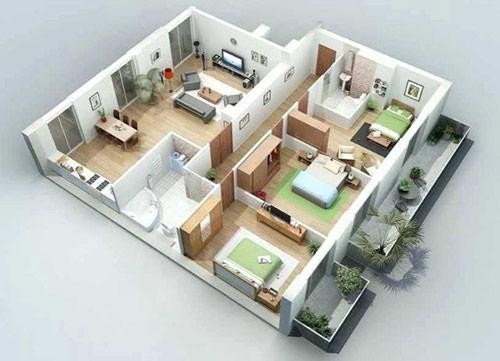 Đơn vị thiết kế nội thất chung cư 3 phòng ngủ uy tín, giá rẻ tại Hà Nội