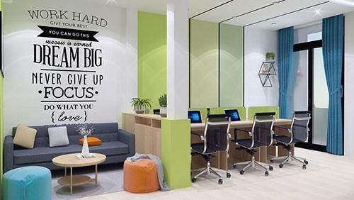 Thiết kế văn phòng 30m2 đẹp, ấn tượng