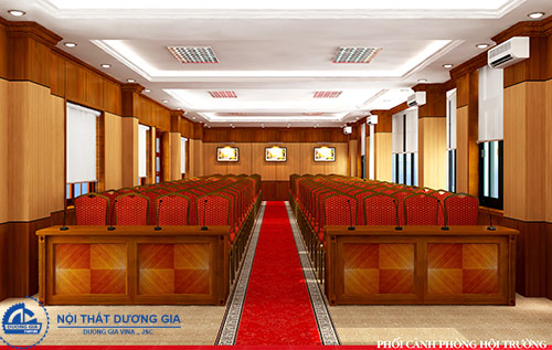 Thiết kế phòng hội trường đẹp cần chú ý tới điều gì?
