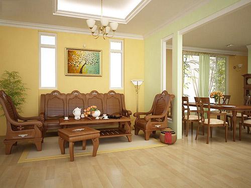Mua nội thất phòng khách nhà 1 tầng cần chú ý tới điều gì?